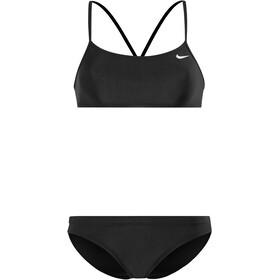 Nike Swim Solid Bikini Top Racerback & parte de abajo Sport Mujer, black/black
